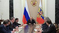 Президент РФ Владимир Путин на заседании Совбеза РФ. 1 декабря 2016