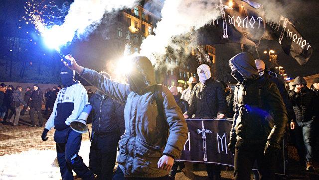 Акция по случаю третьей годовщины событий на киевском Майдане, архивное фото