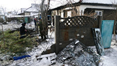 Последствия обстрела Куйбышевского района Донецка. 8 декабря 2016