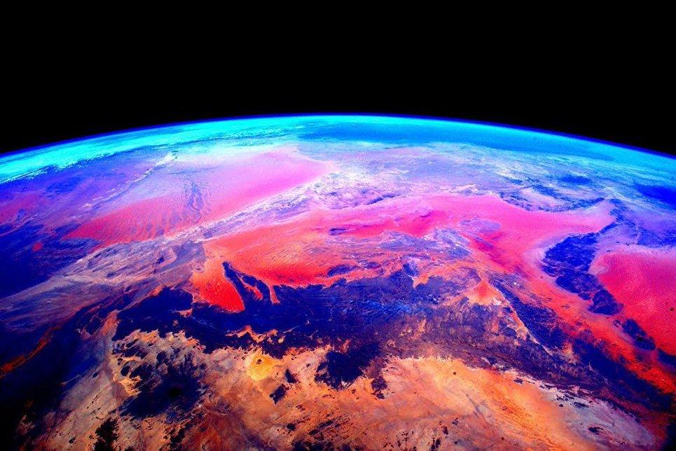 Земля снятая с Международной космической станции