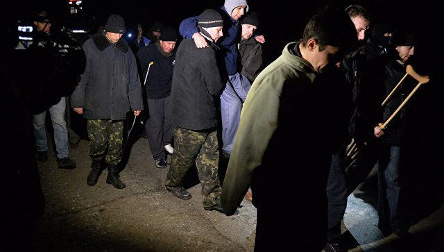 Обмен пленными между ополченцами ДНР и украинскими силовикам. Архивное фото