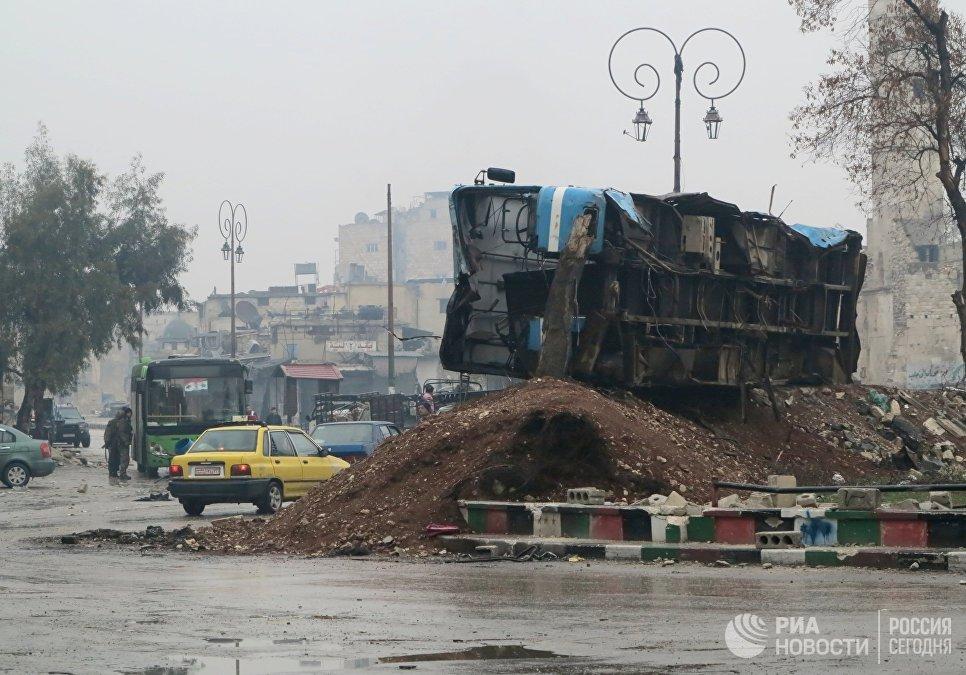 Освобожденный квартал восточного Алеппо