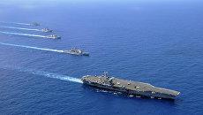 Авианосная группа 7-го флота ВМС США в Южно-Китайском море. Архивное фото