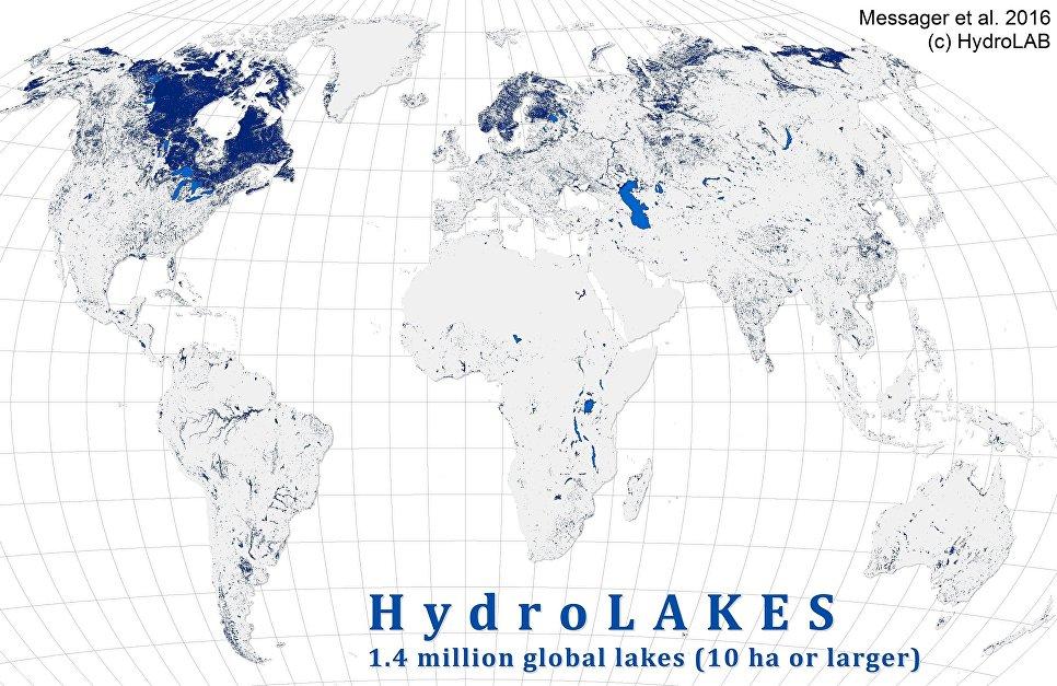 Сколько воды возерах?