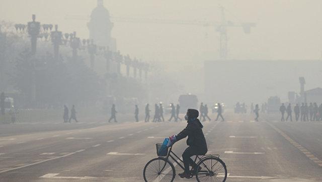Смог в Пекине.