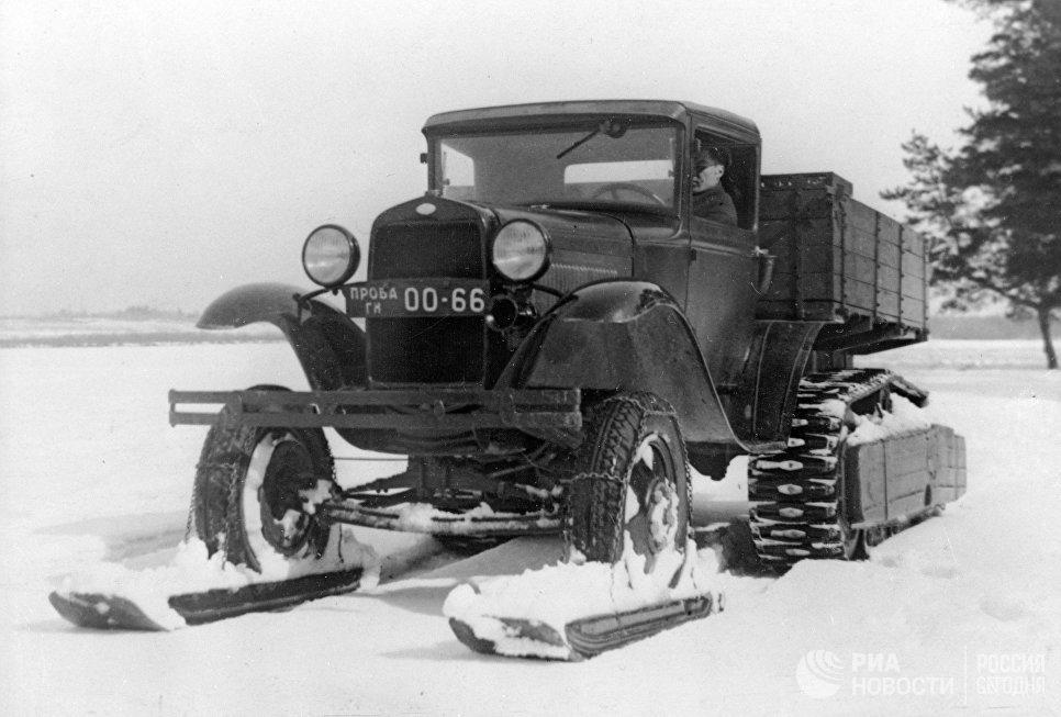 Снегоход на базе грузового автомобиля ГАЗ-АА