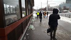Ситуация у метро Коломенская, где раздался хлопок. 22 декабря 2016