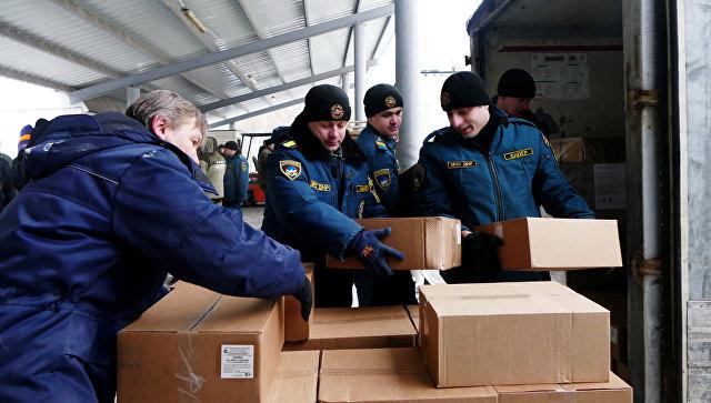 Гуманитарная помощь в Донбассе. Архивное фото