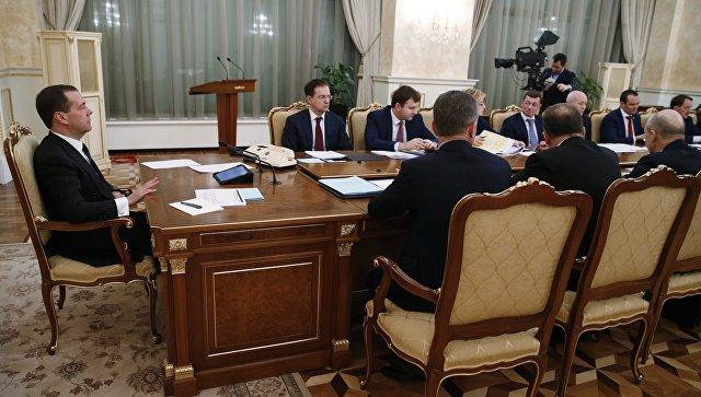 Дмитрий Медведев проводит совещание о мерах по обеспечению сбалансированности региональных и местных бюджетов