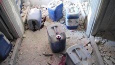 Фабрика боевиков по производству химоружия в Алеппо. Архивное фото