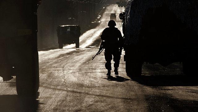 Солдат украинской армии, Восточная Украина. Архивное фото