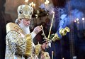 Патриарх Московский и всея Руси Кирилл на Рождественском богослужении в храме Христа Спасителя