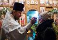 Рождественское богослужение в храме Архистратига Михаила в селе Ермаковка Омской области