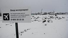 Место крушения малайзийского Boeing 777 в Донецкой области. Архивное фото