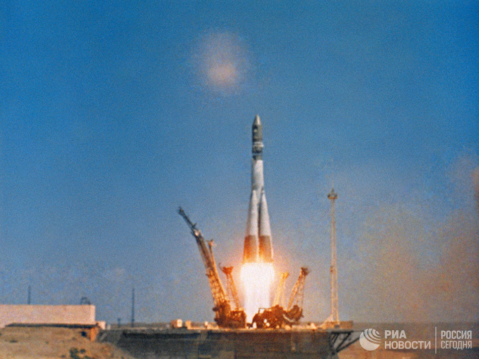 Старт космического корабля Восток-1