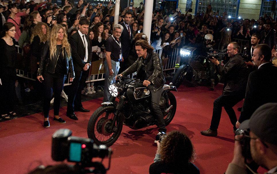 Актер Орландо Блум во время премьеры своего фильма Проповедники с замасленными руками на фестивале в Сан-Себастьяне, Испания