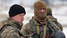 Украинские военнослужащие. Архивное фото