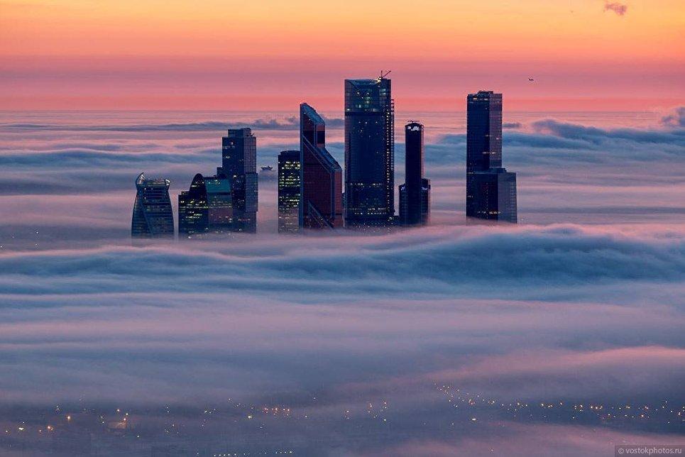 Москва под облаками. Москва-Сити