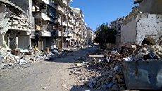 Разрушенные дома в освобожденном районе Алеппо. Архивное фото