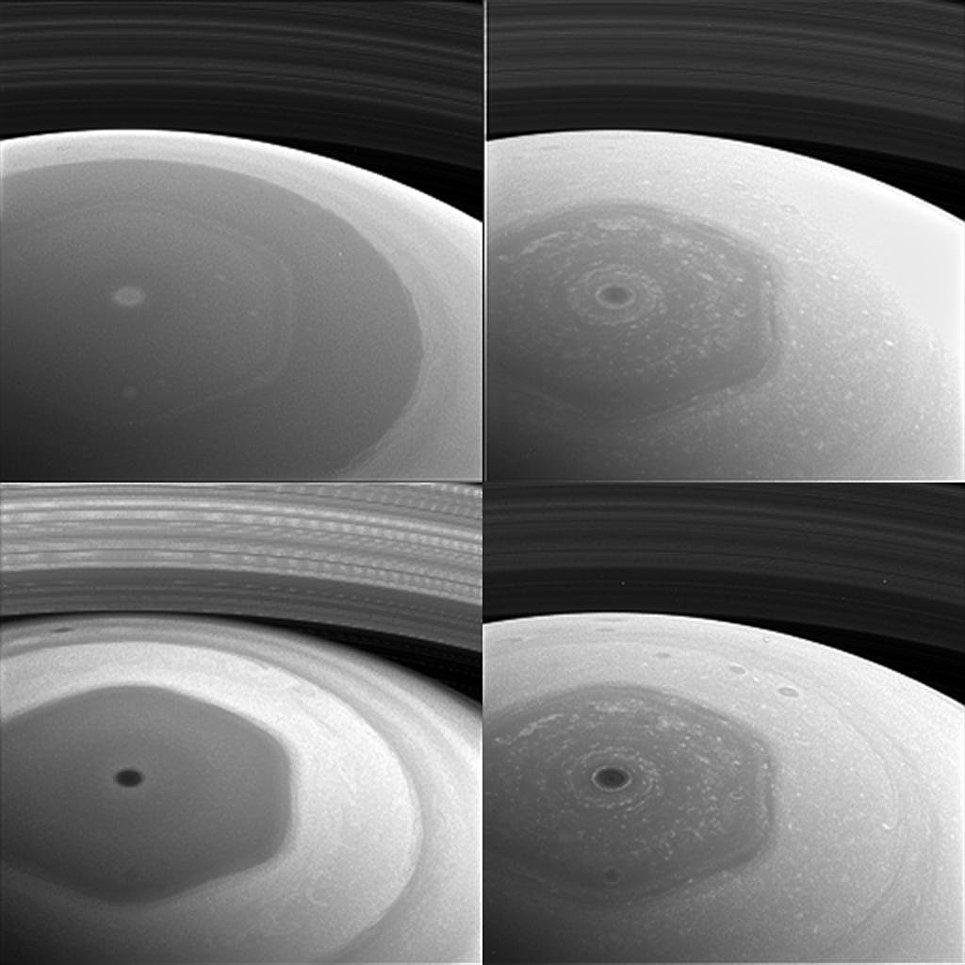 Фотография Сатурна, полученная «Кассини»  на новой орбите