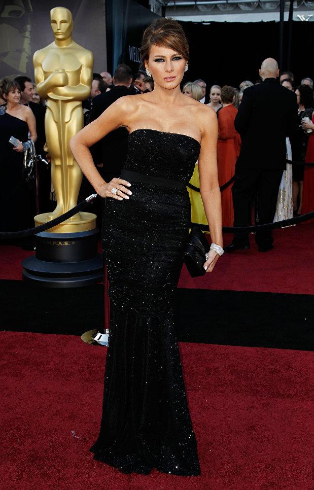Меланья Трамп во время 83-й церемонии вручения премии Оскар. 2011 год