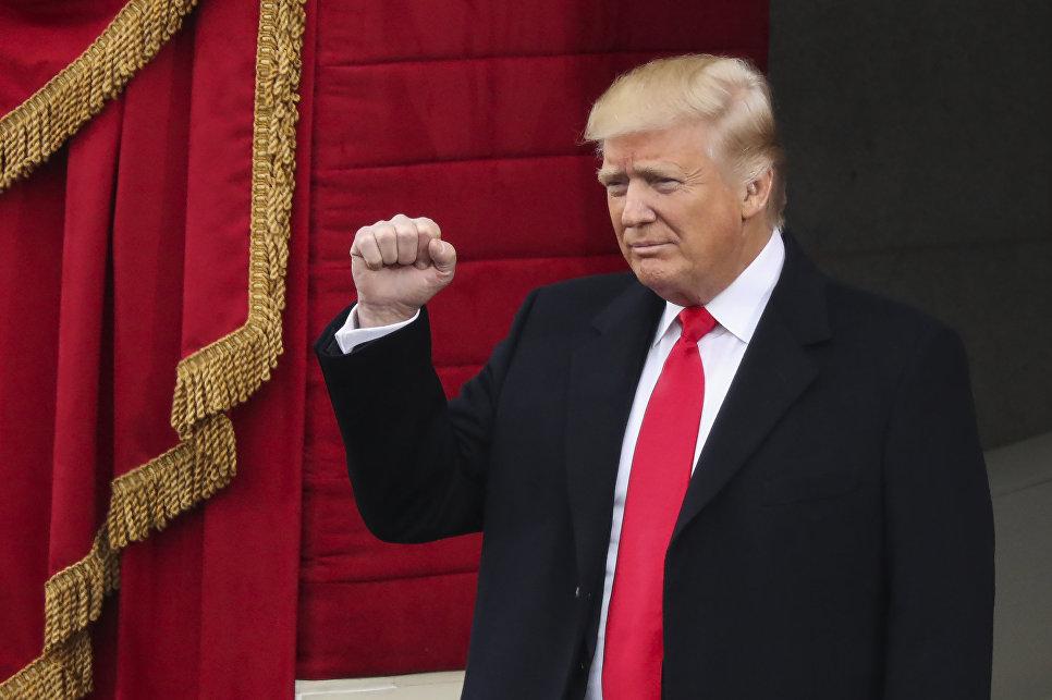 Избранный президент Дональд Трамп прибыл на инаугурацию в Капитолий в Вашингтон. 20 января 2017