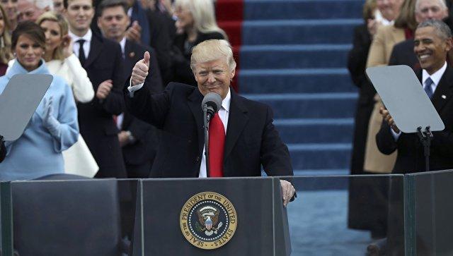Presidente Donald Trump.  20 gennaio 2017