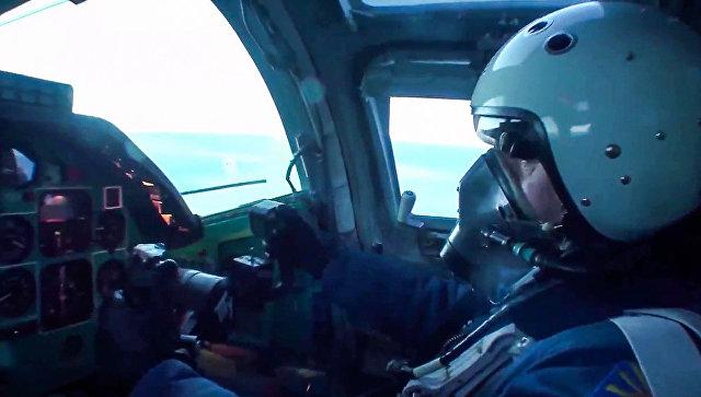 Пилот сверхзвукового стратегического бомбардировщика-ракетоносца ВКС РФ Ту-22М3 в Сирии. Архивное фото