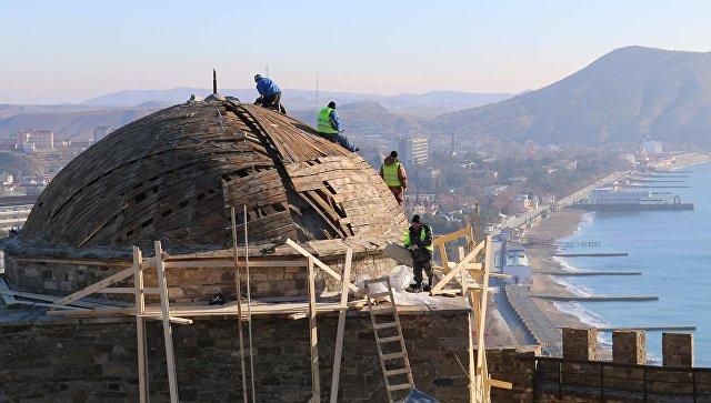 Реставрация в генуэзской крепости в крымском Судаке