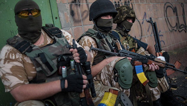Солдаты украинской армии из батальона Донбасс, архивное фото