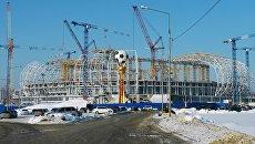 Строящейся стадион Мордовия Арена в Саранске. Архивное фото