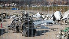 Обломки упавшего у берегов Сочи самолета Минобороны РФ Ту-154. Архивное фото