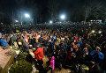 Толпа ждет, чтобы увидеть сурка Фила. Панксатони, 2 февраля 2017