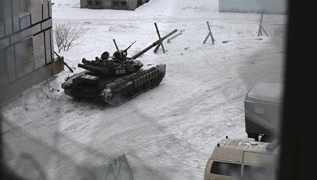 Танк ВСУ в Авдеевке, Украина. Архивное фото
