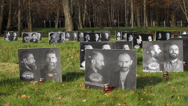Акция, посвященная Дню памяти жертв политических репрессий, на Бутовском полигоне в Москве. Архивное фото