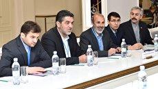 Участники заседания совместной оперативной группы России, Турции и Ирана по контролю за перемирием в Сирии, проходящего в Астане. 6 февраля 2017. Архивное фото