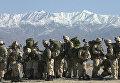 Солдаты армии США на военно-воздушной базе в Афганистане