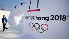 Символика зимних Олимпийских игр 2018 в Пхенчхане. Архивное фото