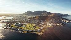 Кейптаун с высоты птичьего полета, Южная Африка. Архивное фото