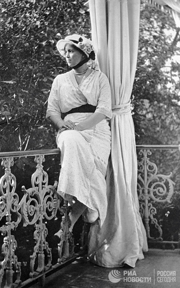 Дочь императора Николая II Мария в Царском Селе. Съемка императрицы Александры Федоровны