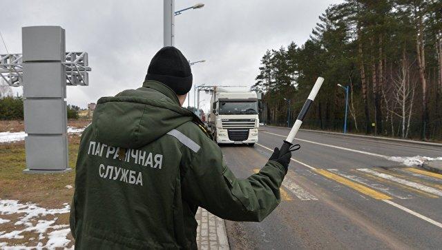 Фуры с российскими номерами на белорусско-литовской границе. Архивное фото