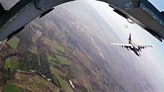 Боевые вылеты самолетов Су-25 ВКС России с авиабазы Хмеймим. Архивное фото