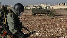 Военные инженеры сводного отряда Международного противоминного центра Вооруженных сил РФ в Алеппо
