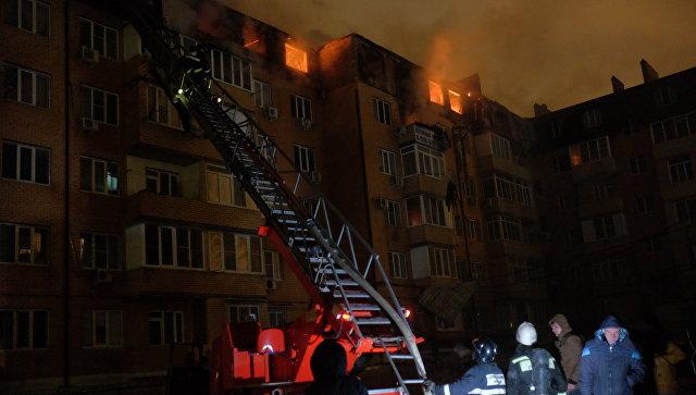 Подозреваемый вподжоге дома схвачен — Пожар вКраснодаре