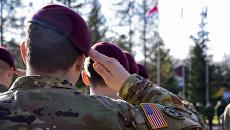 Военнослужащие армии США на территории Международного центра миротворчества и безопасности в Яворовском районе Львовской области, Украина. Архивное фото