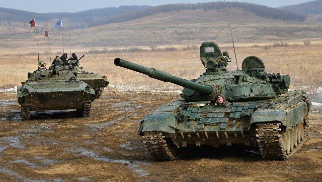 Всеармейские соревнования Танковый биатлон и Суворовский натиск. Архивное фото