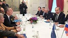 Встреча министра иностранных дел РФ С. Лаврова с генеральным секретарем НАТО Й. Столтенбергом