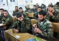 Сирийские военнослужащие на занятии в Международном противоминном центре Вооруженных Сил РФ в Алеппо