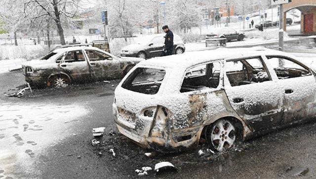 Беспорядки в микрорайоне Стокгольма Ринкебю, где проживает много мигрантов