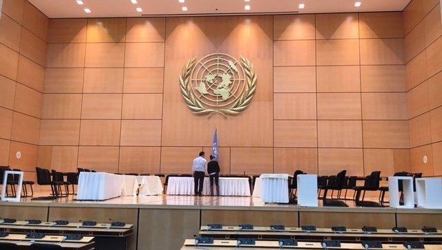 Зал генассамблеи в женевском офисе ООН. Архивное фото